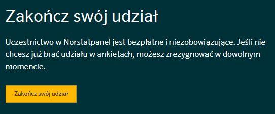 Norstat panel - zakoncz swoj udzial