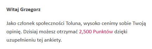 Toluna - zaproszenie do ankiety