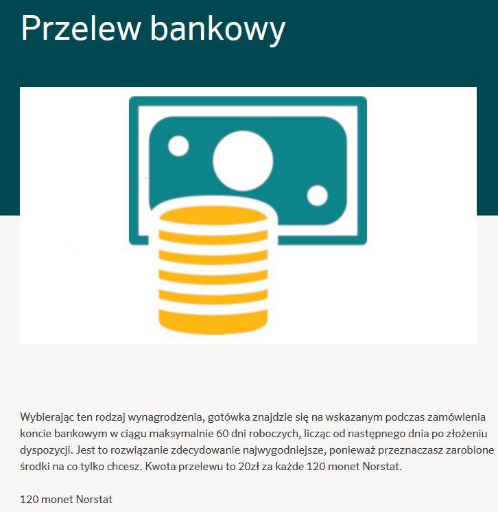 norstatpanel - przelew bankowy