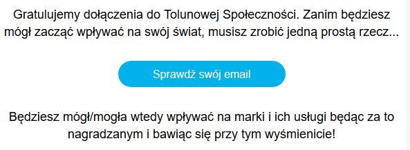 toluna logowanie - potwierdz email