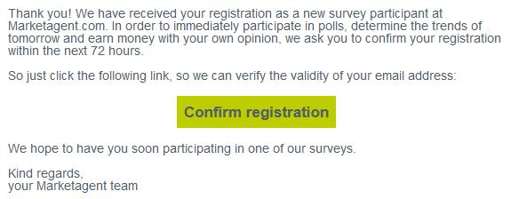 marketagent ankiety - Confirm registration