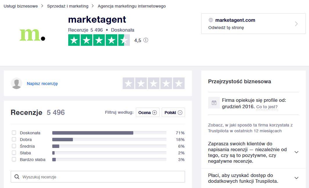 marketagent opinie - TrustPilot