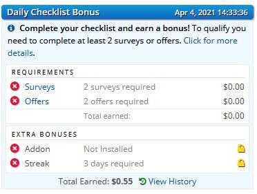 ySense logowanie - Dzienny bonus